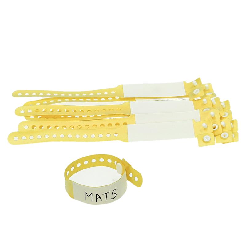 Bracelet jaune (lot de 10 pièces)