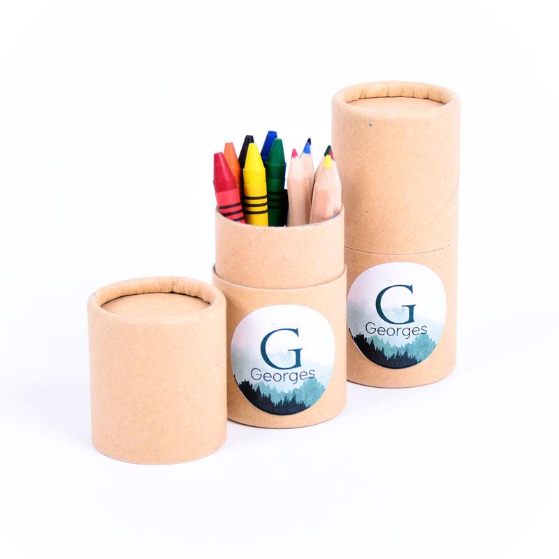 Koker kleurset met sticker Georges