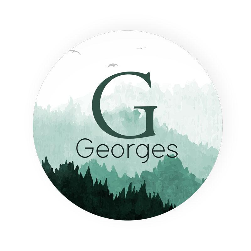 Sticker rond Georges