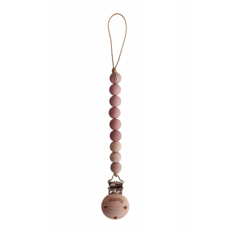 Mushie Speenketting Cleo - Powder/Wood