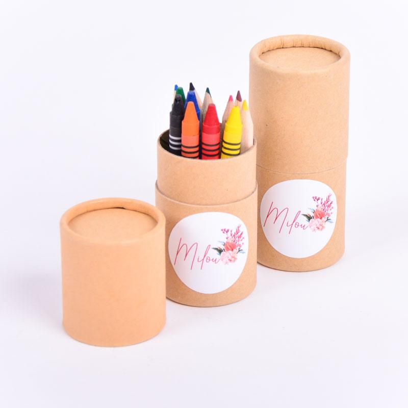 Koker kleurset met sticker Milou