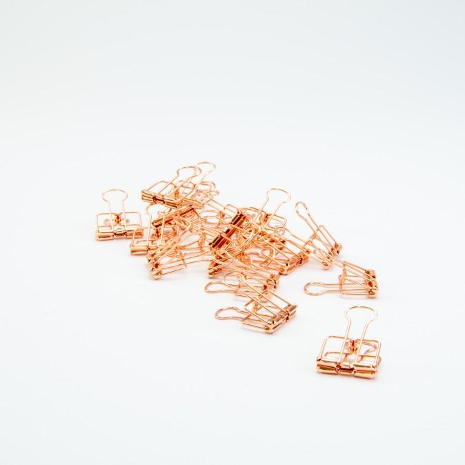 Metalen clip rosé goud
