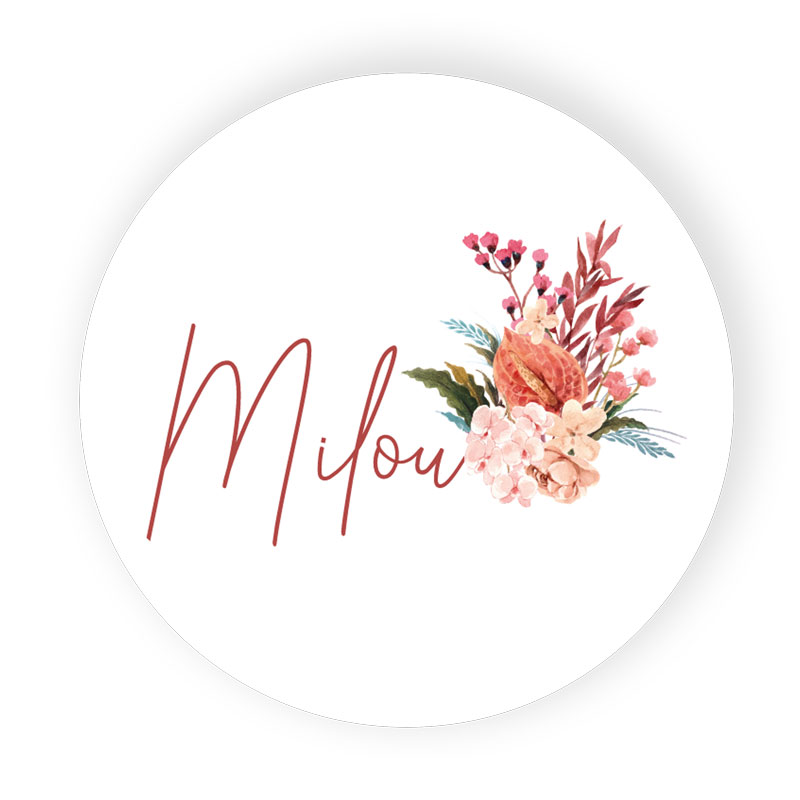 Sticker rond Milou