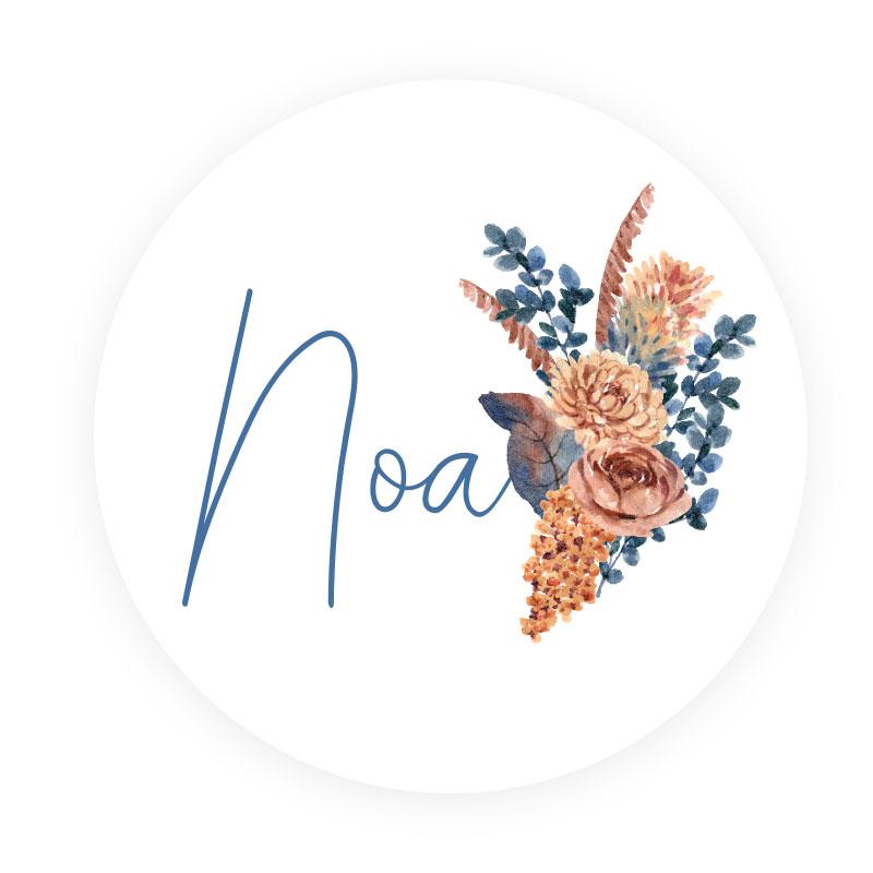Sticker rond Noa