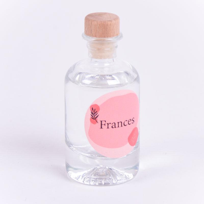 Gin flesje met sticker Frances