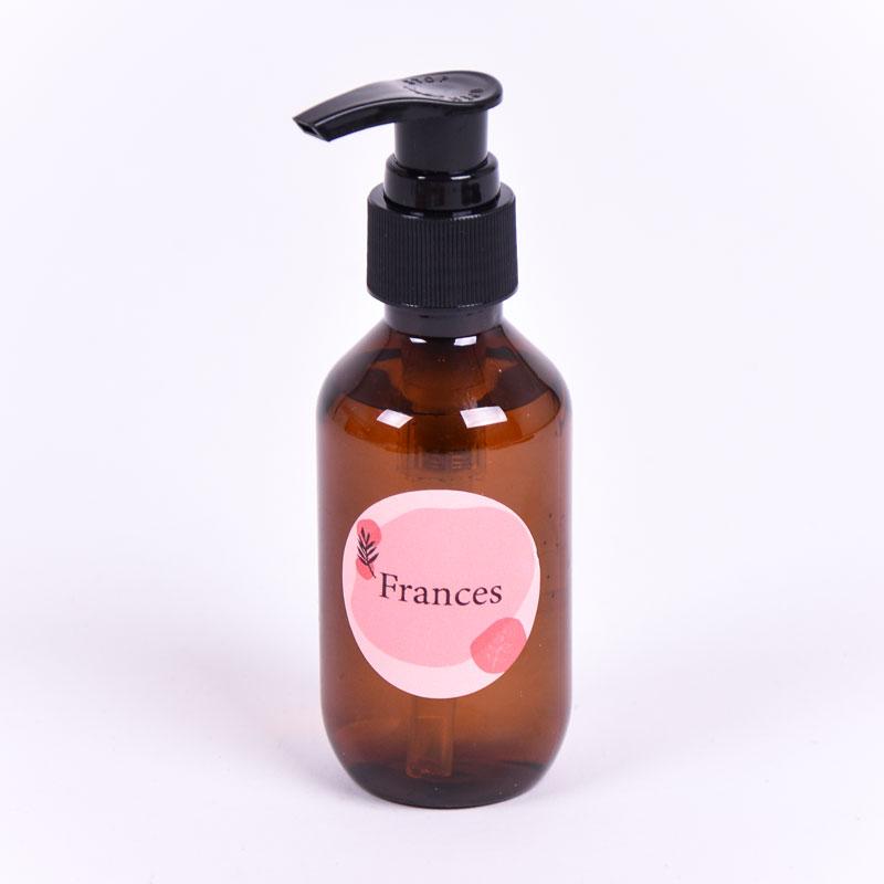 Zeeppompje bruin met sticker Frances