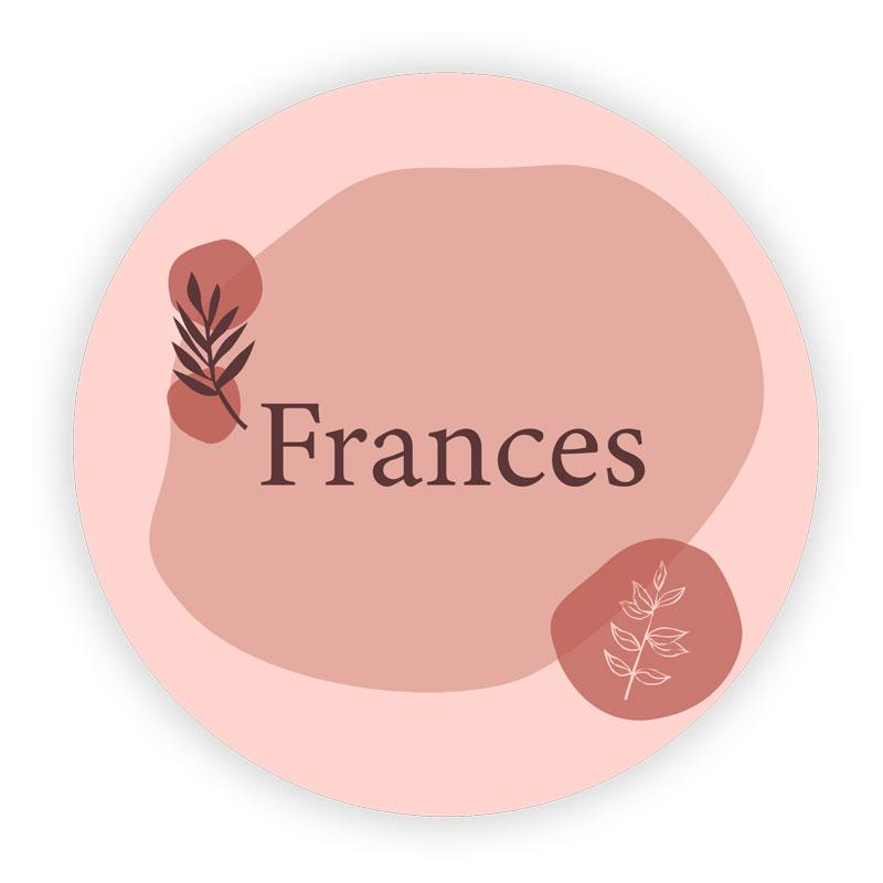 Sticker rond Frances