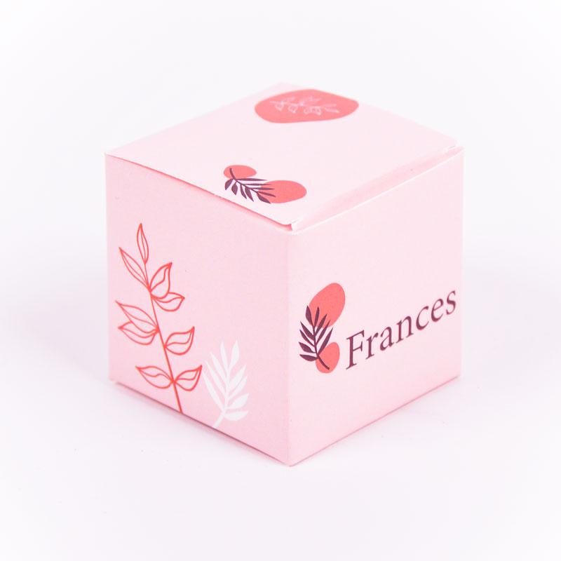 Vierkant doopsuikerdoosje Frances