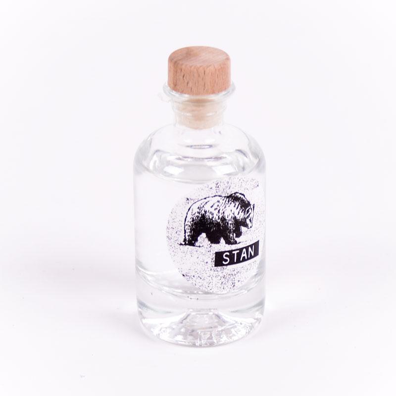 Gin flesje met sticker Stan