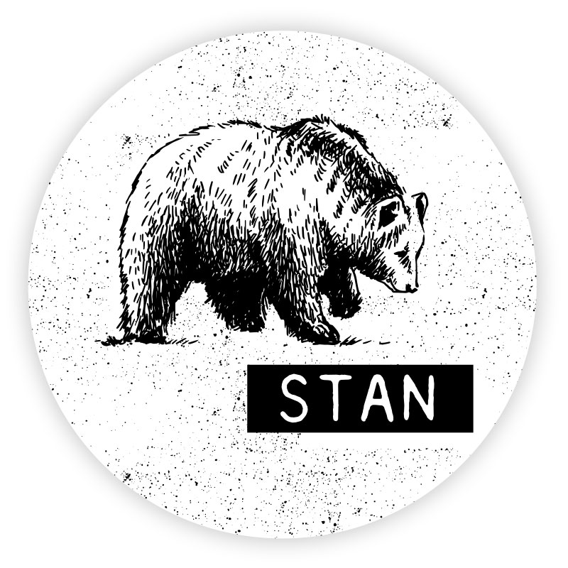 Sticker rond Stan