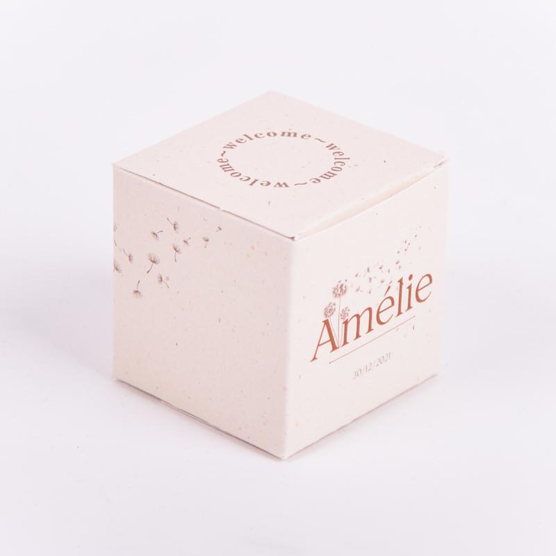 Vierkant doopsuikerdoosje Amélie