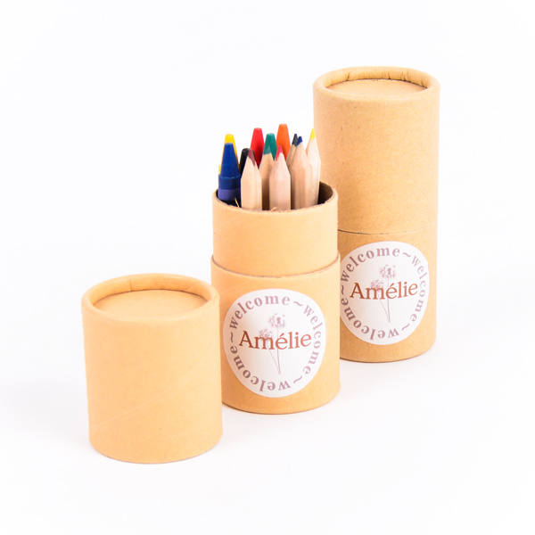 Koker kleurset met sticker Amélie