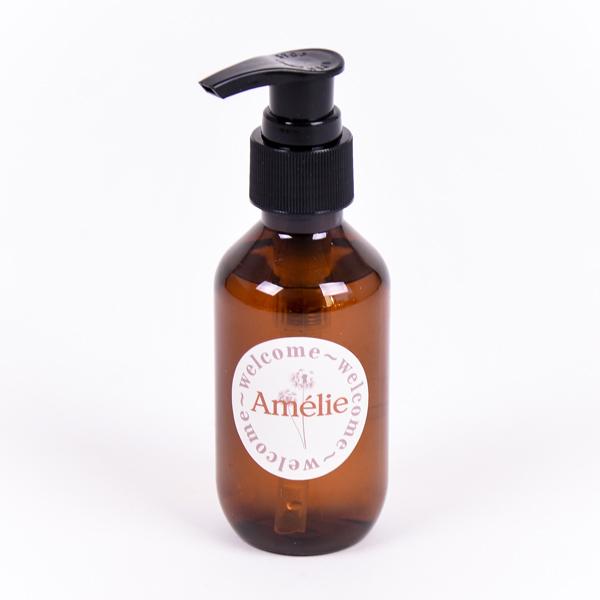 Zeeppompje bruin met sticker Amélie