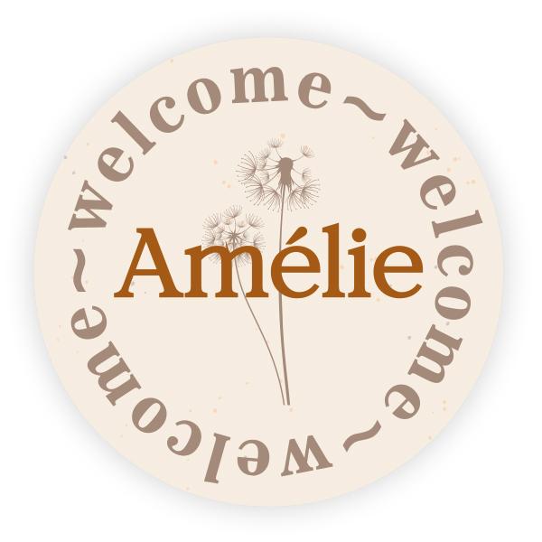Sticker rond Amélie