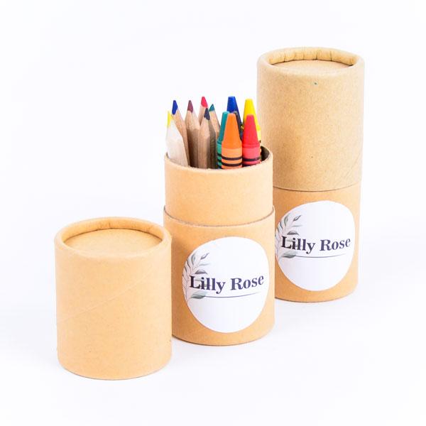 Koker kleurset met sticker Lilly Rose