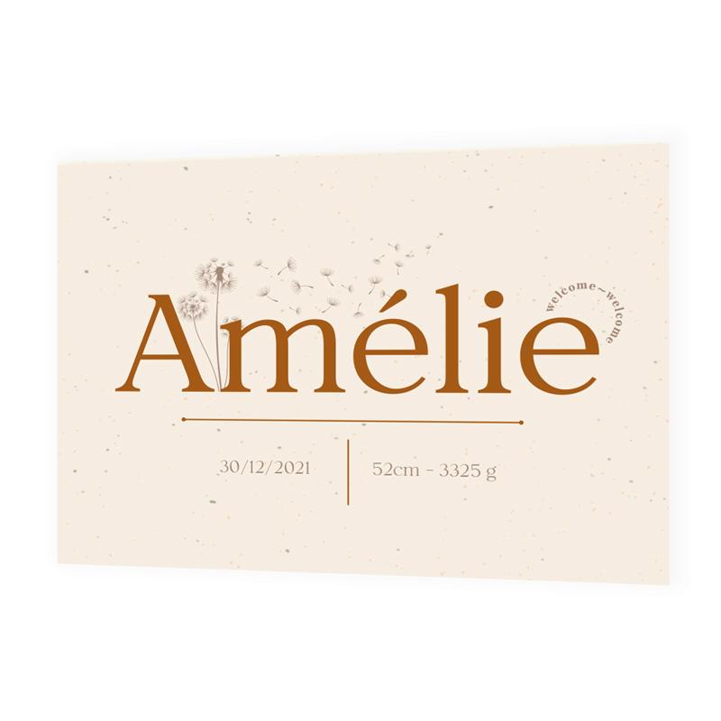 Faire-part de naissance Amélie