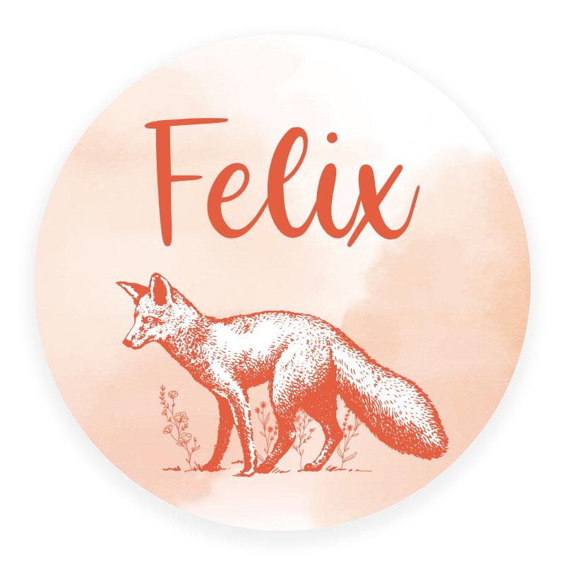 Sticker rond Felix