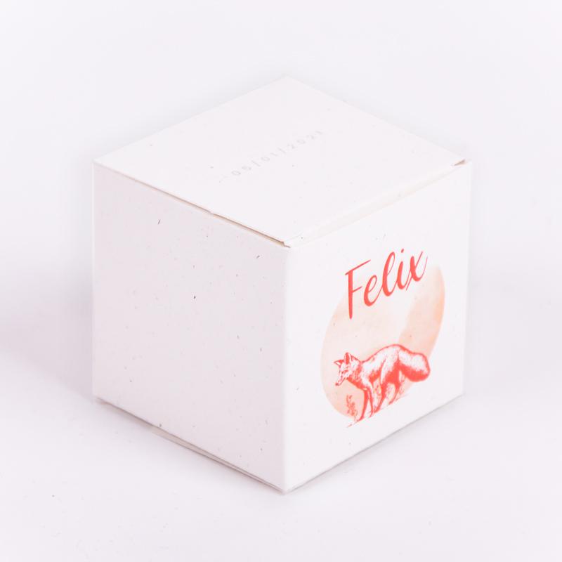 Vierkant doopsuikerdoosje Felix