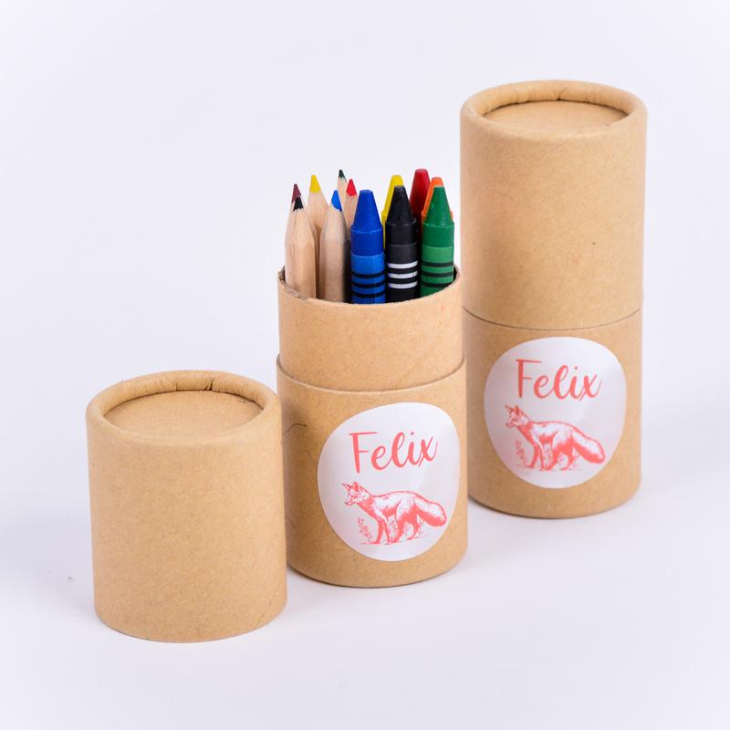 Koker kleurset met sticker Felix
