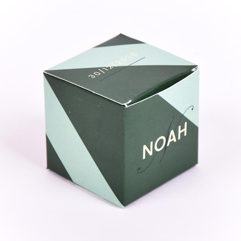 Vierkant doopsuikerdoosje Noah