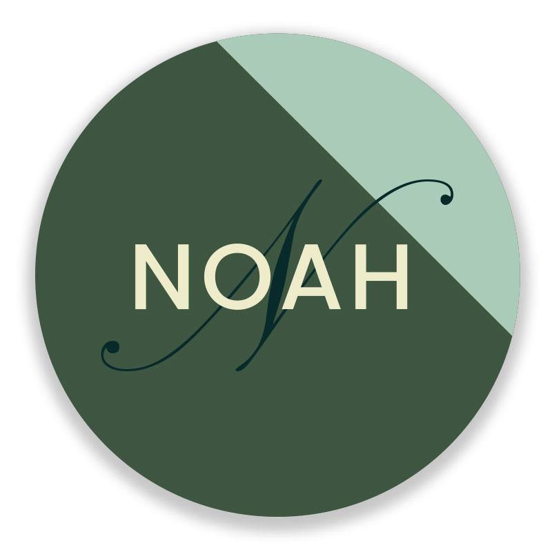 Sticker rond Noah