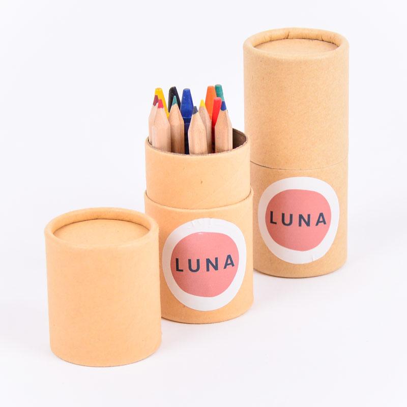 Koker kleurset met sticker Luna