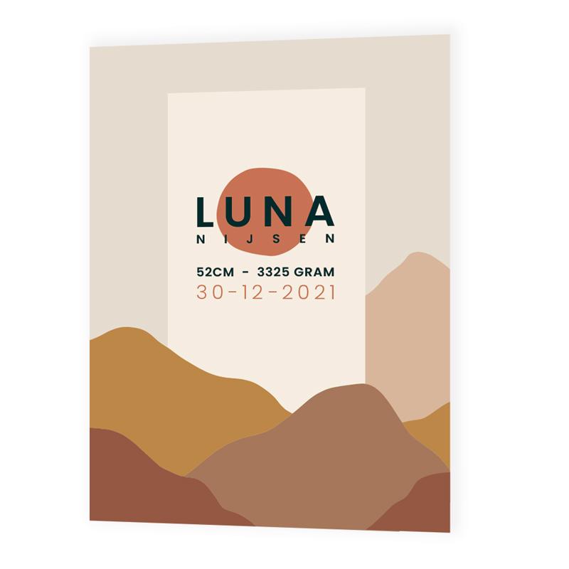 Geboortekaartje Luna