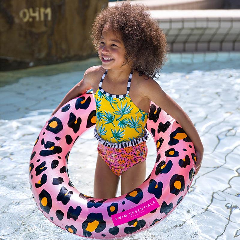 Swim essentials kinder zwemband panter rosé goud 70 cm