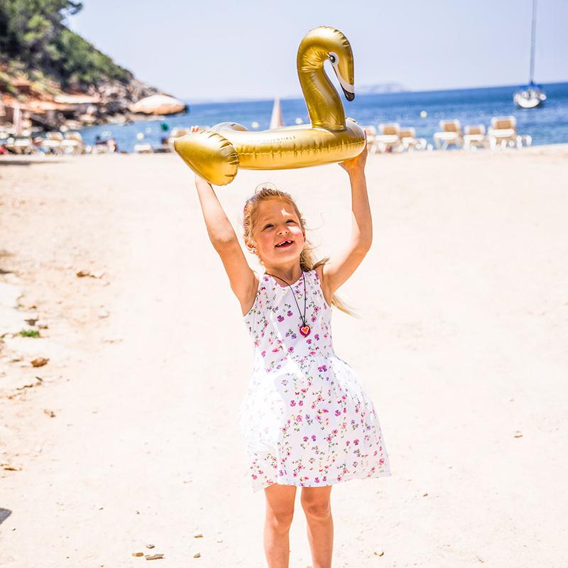 Swim essentials kinder zwemband gouden zwaan 70 cm