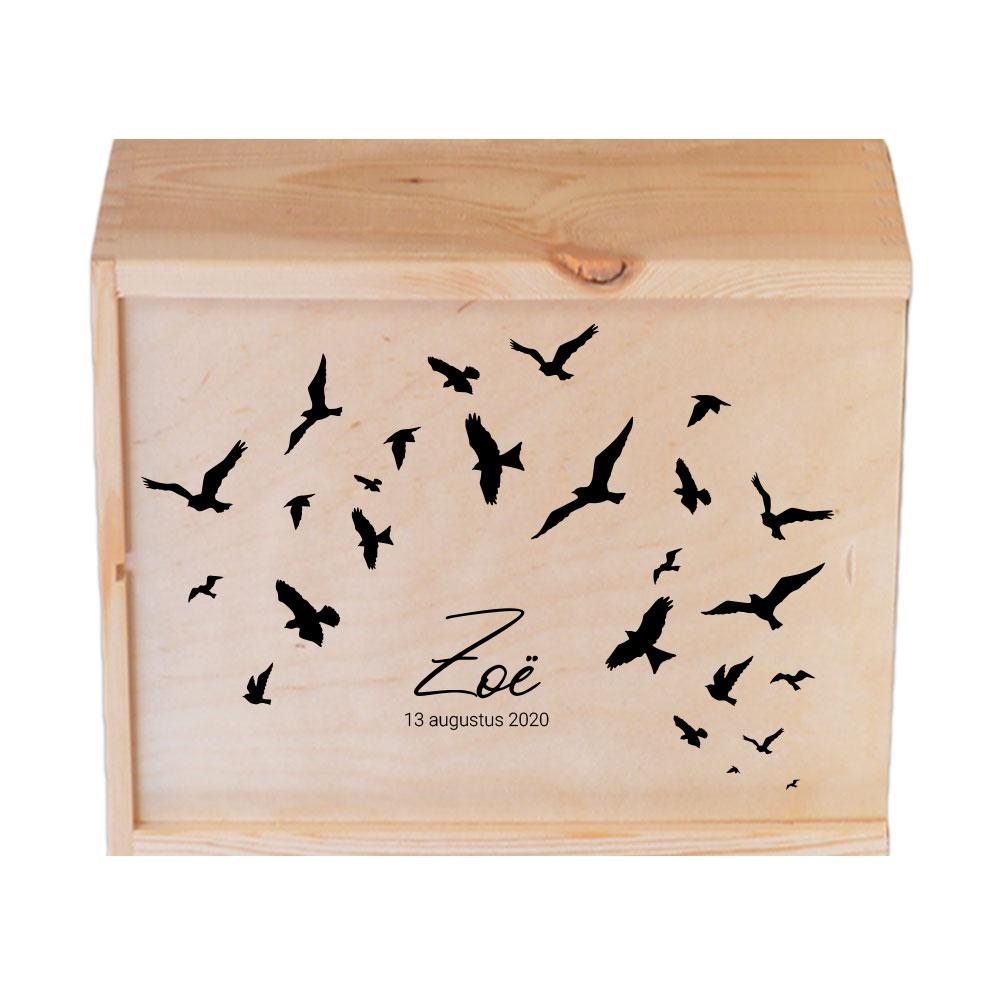 Coffre à souvenirs personnalisé - Birds