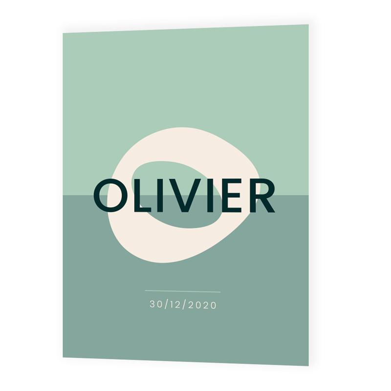 Faire-part de naissance Olivier