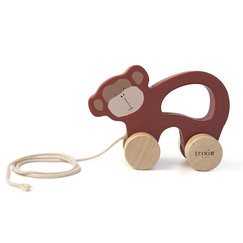 Trixie houten trekfiguur - Mr. Monkey
