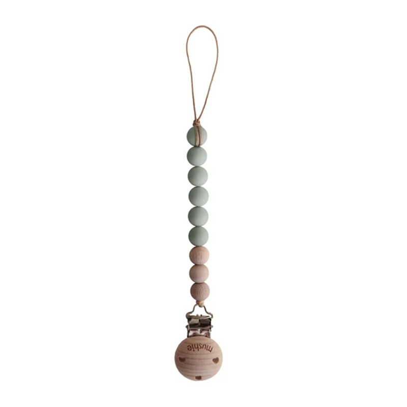 Mushie Speenketting Cleo - Sage/Wood