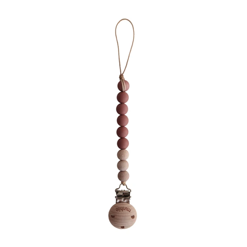 Mushie Speenketting Cleo - Redwood/Wood