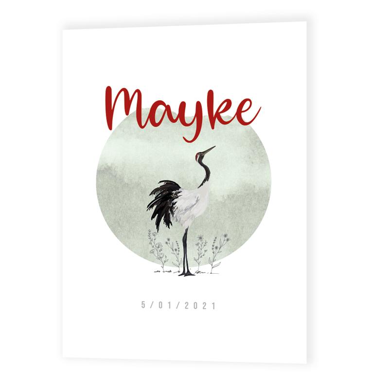 Faire-part de naissance Mayke
