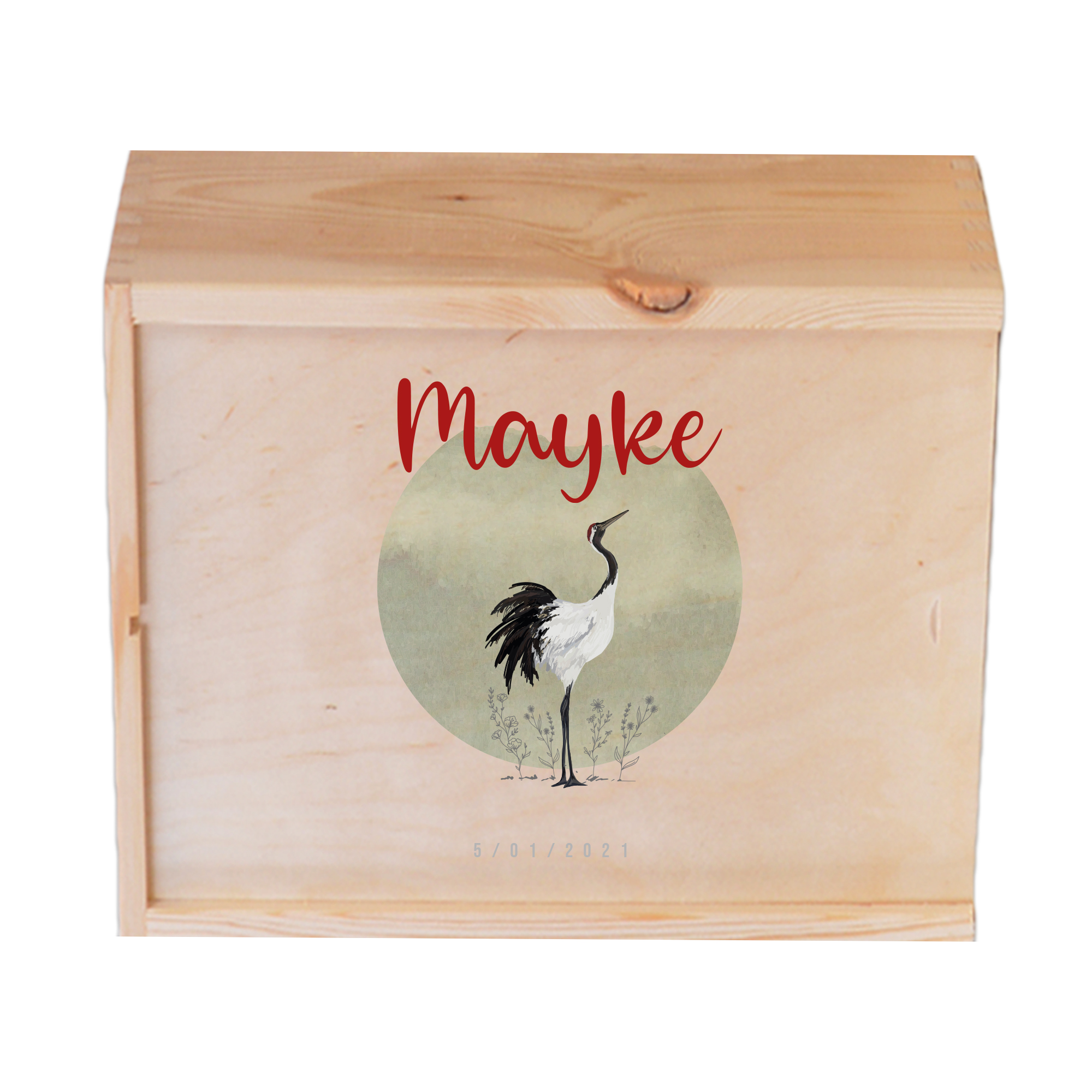Houten herinneringskist Mayke