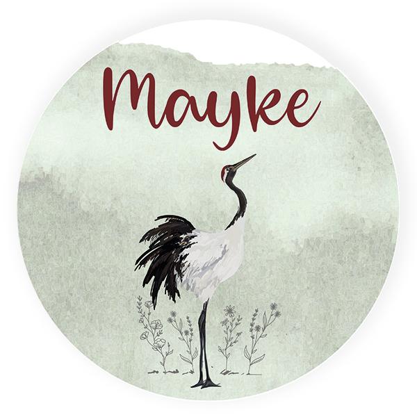 Sticker rond Mayke