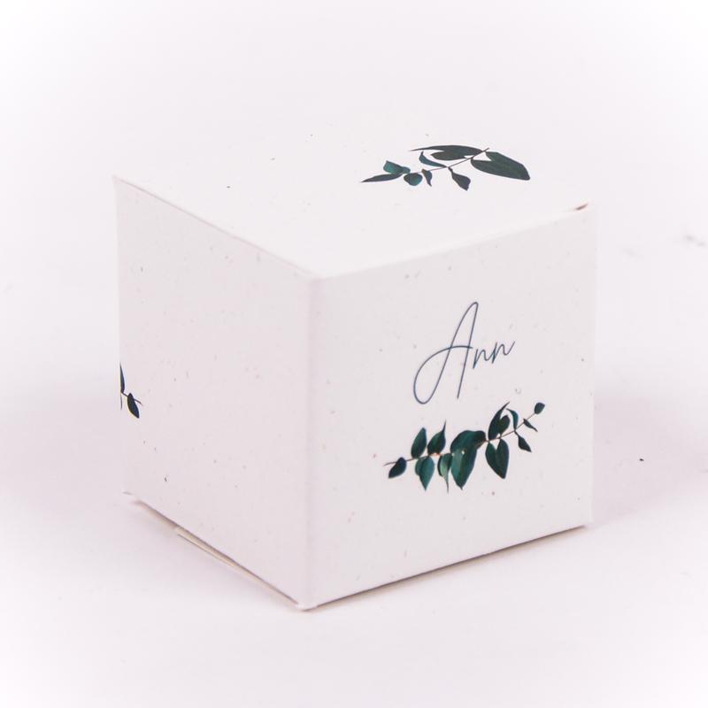 Vierkant doopsuikerdoosje Ann