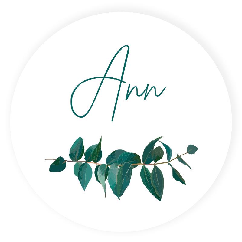 Sticker rond Ann