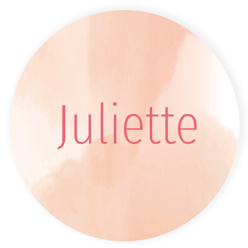 Sticker rond Juliette