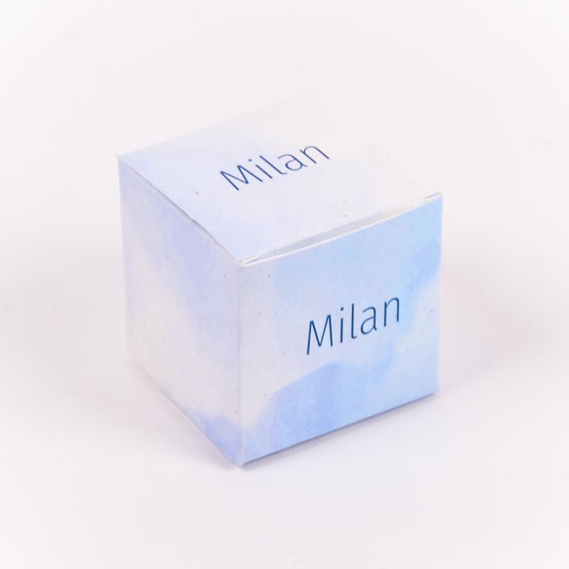 Vierkant doopsuikerdoosje Milan