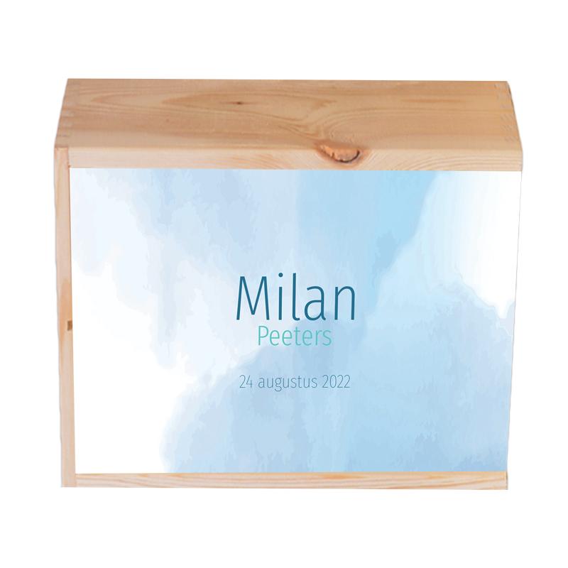 Houten herinneringskist Milan