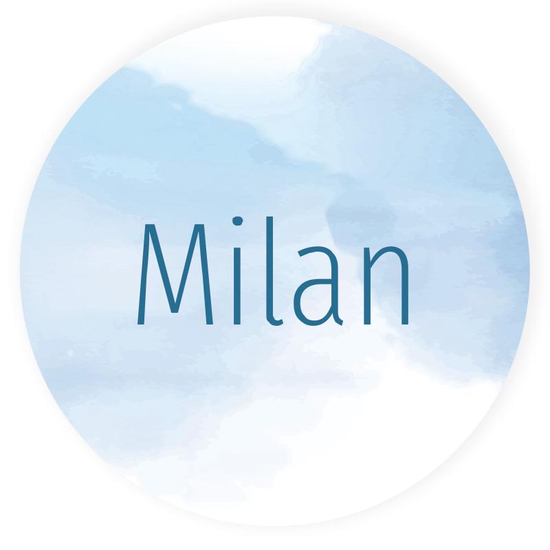 Sticker rond Milan