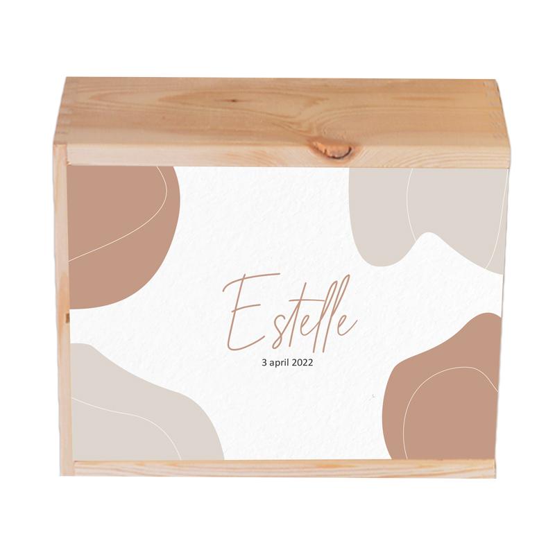 Houten herinneringskist Estelle