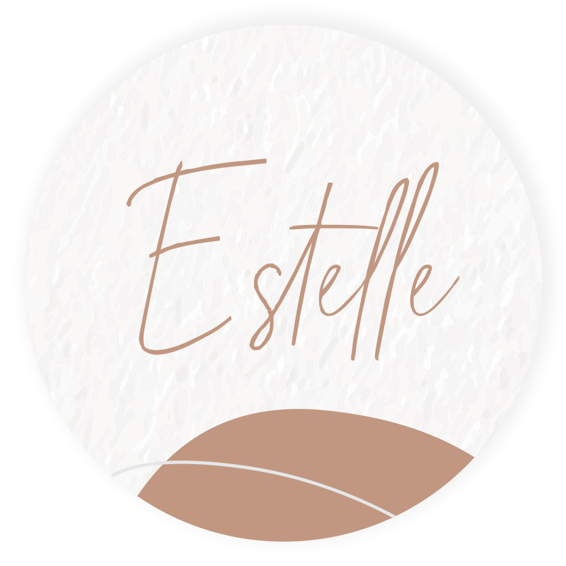 Sticker rond Estelle