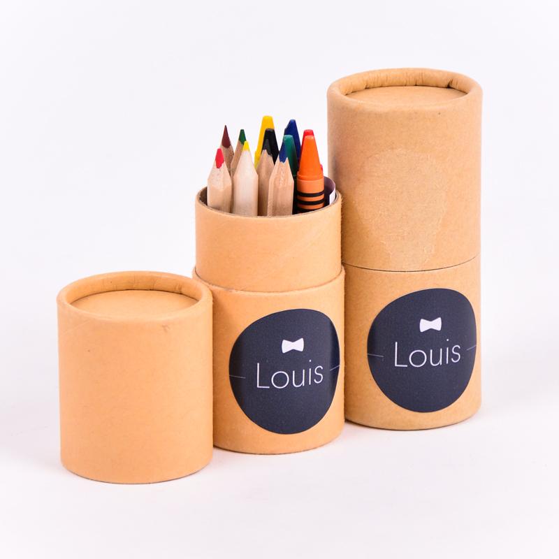 Koker kleurset met sticker Louis