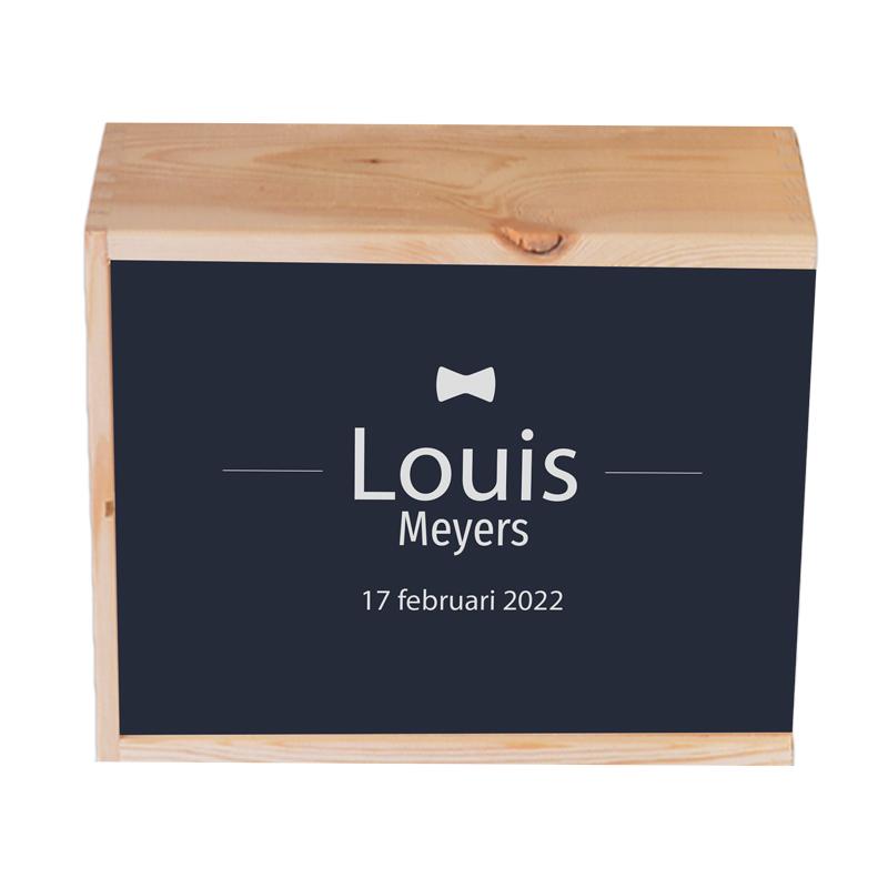 Houten herinneringskist Louis