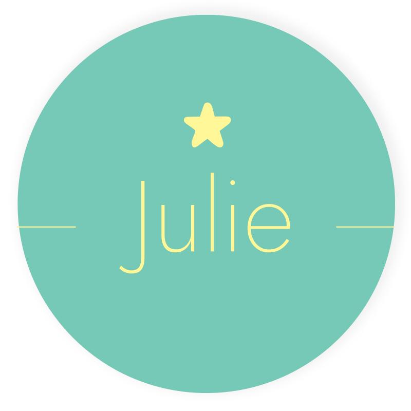 Sticker rond Julie