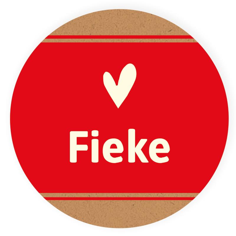 Sticker rond Fieke