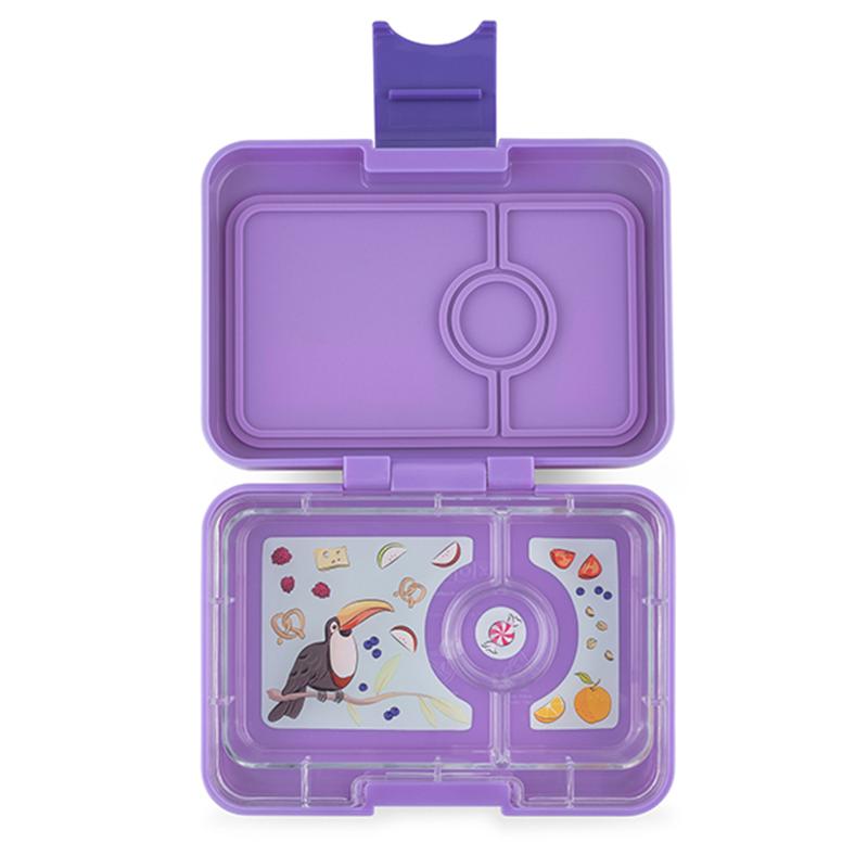 Yumbox fruitdoos Minisnack Dreamy Purple  3 vakken